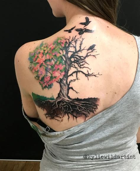 dead flower tattoo 25 best tree back ideas on