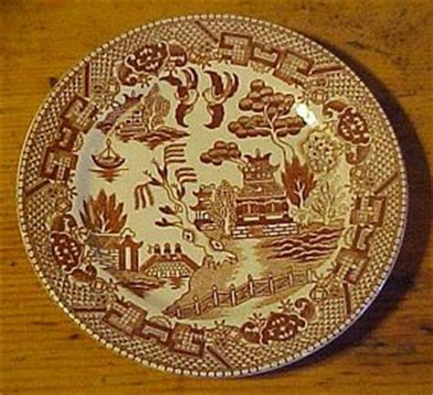 brown willow pattern vintage brown willow transferware bread plate japan 6