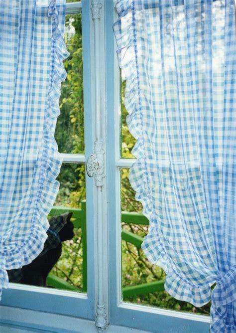 blue gingham kitchen curtains 25 best ideas about gingham curtains on pinterest