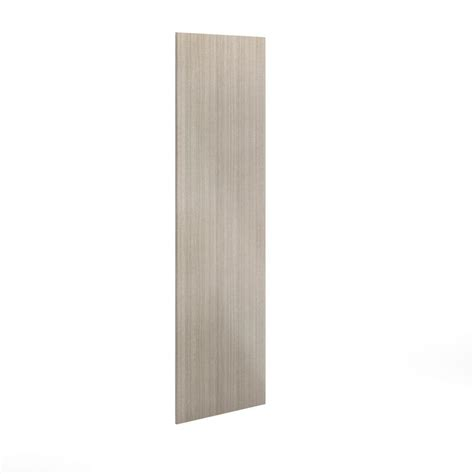 eurostyle 30x91x0 75 in finishing end panel in silver
