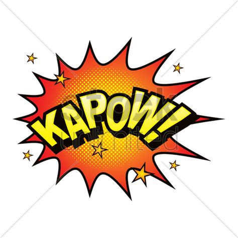 kapow poetry comix books kapow comic speech vector image 1711049