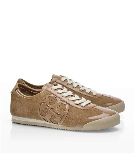 burch sneaker burch suede leather murphey sneaker in beige camel