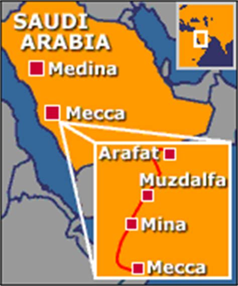 middle east map mecca the pilgrimage which takes muslims in the footsteps of
