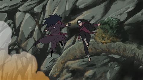 Kaos Anime Madara Vs Hashirama hashirama vs madara by thundared on deviantart