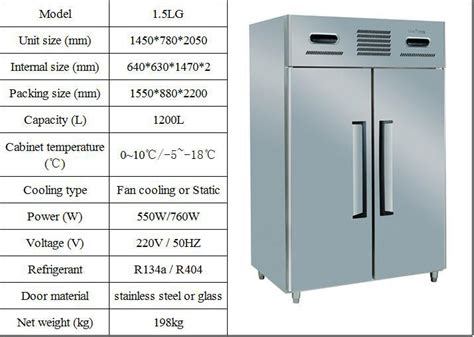 Lemari Es 1 Pintu Sanyo sale 1 5lg4 stainless steel two temperature 4 door chiller freezer guangzhou manufacturer