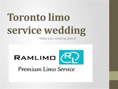 Toronto limo service wedding by ramlimo   Issuu