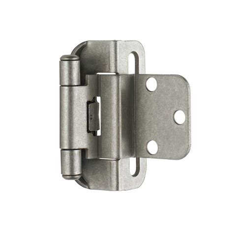 amerock kitchen cabinet hinges amerock partial wrap 3 8 quot inset hinge weathered nickel