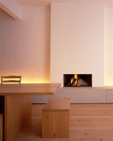 Minimalist Fireplaces by Minimalist Fireplace With Douglas Fir Floorboards