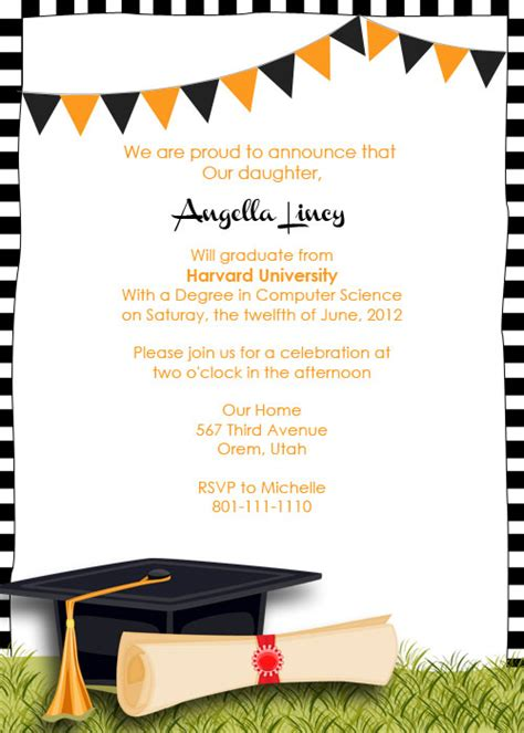 free templates for graduation announcements graduation invitation template