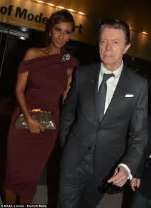 David bowie makes a rare public appearance with wife iman at event to