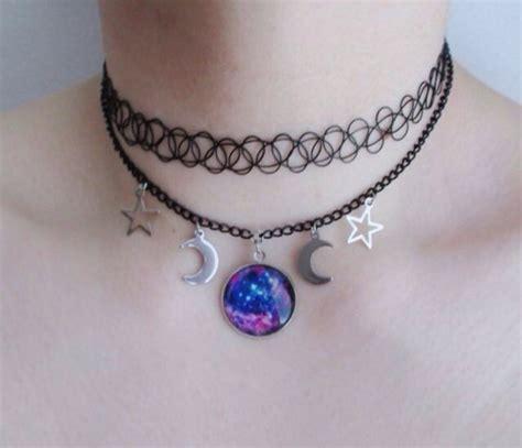 Tatto Choker Soft Purple jewels choker necklace 90s grunge 90s choker 90s