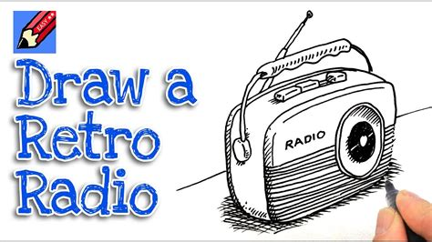 Radio 4 Sketches by How To Draw A Retro Radio Real Easy