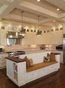 Stainless Steel Kitchen Island With Seating I Adore The Island With Built In Bench Seat For Possible