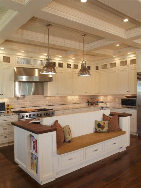 built in bench seating for kitchen i adore the island with built in bench seat for possible