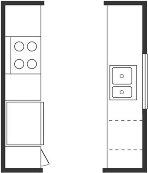 Galley Kitchen Floor Plan Layouts Used Kitchen Cabinets Kitchen Floor Plan Basics