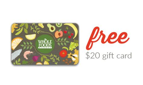 Where Can I Get A Whole Foods Gift Card - free 20 whole foods gift card deal southern savers