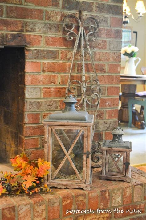 pinterest fall decorations for the home lanterns in fall mantel decorating lantern love