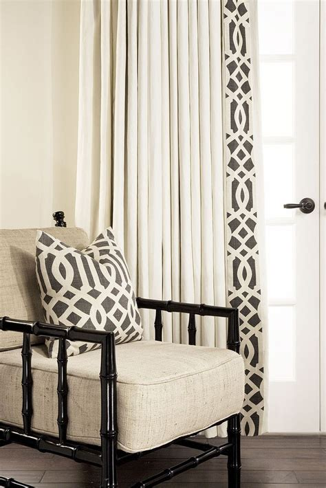 banded drapes estate linen custom drapery by drapestyle with leading