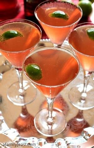 sparkling christmas cosmo cocktail chagne cosmos a family feast