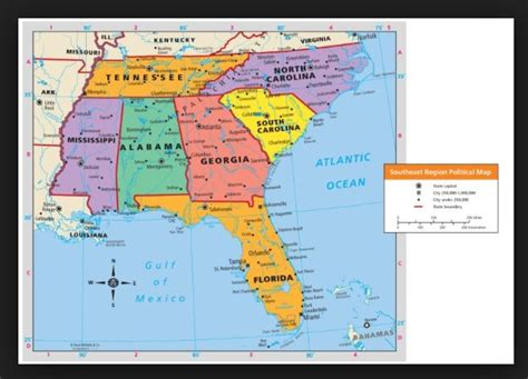 map usa southeast region map of the southeast region of the united states write