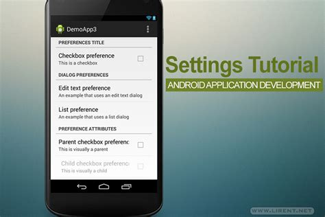 tutorial android preferences android settings activity demo app source code download