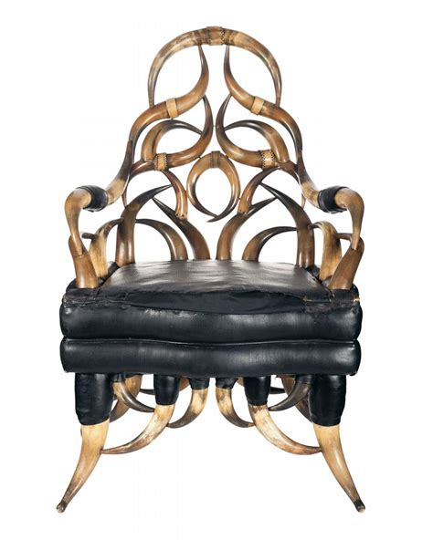 Extraordinary Chairs by Extraordinary 19th Century Steer Horn Chair With Relief