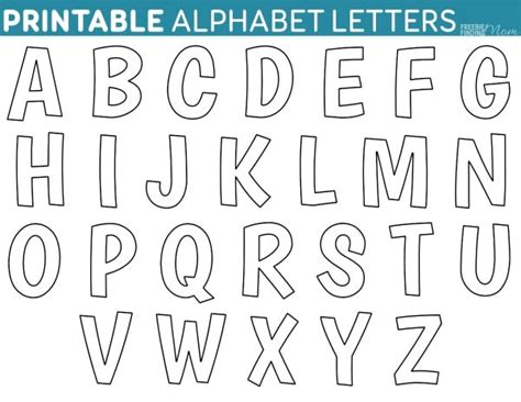 printable alphabet letters one per page printable free alphabet templates