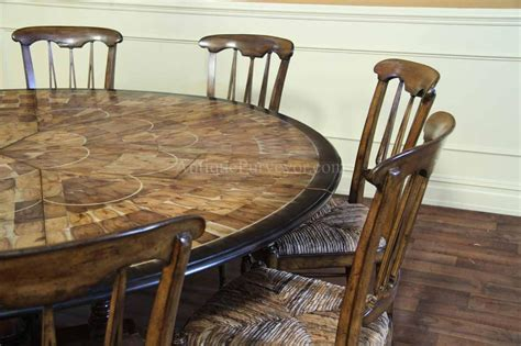 large walnut dining room table with leaves seats 6