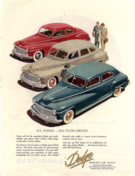 car ads 1947 dodge sedan classics pinterest good photos
