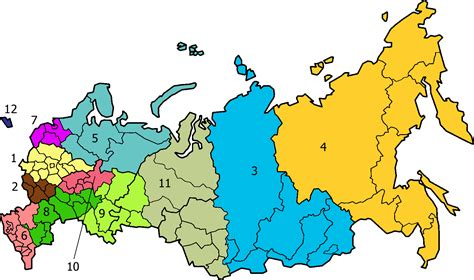 russia map by region russia in the 21st century