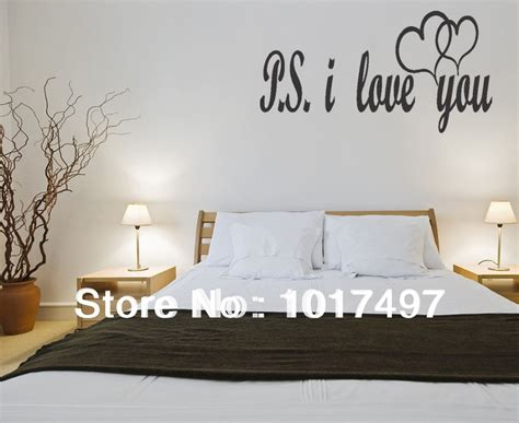 bedroom wall sayings aliexpress com buy free shipping large size ps i love