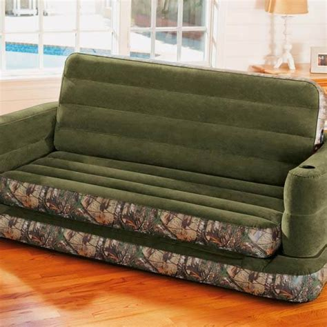 intex queen sleep sofa intex inflatable realtree camo print queen size pull out