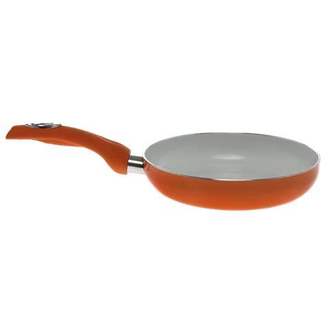 Fry Pan Ceramic Coating 20 Cm Mix Colour new cook in colour orange ceramic non stick silicone handle 20 cm frying pan ebay