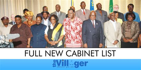 Present Cabinet Ministers by Government Ministers Of Namibia