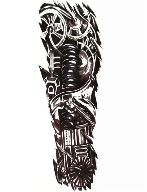 robotic tattoos designs mens arm sleeve robot biomechanical machine