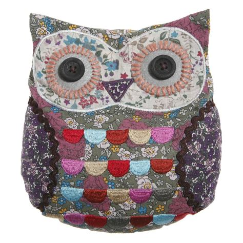 Patchwork Door Stop Pattern - owl pattern the pea s knees sass applique