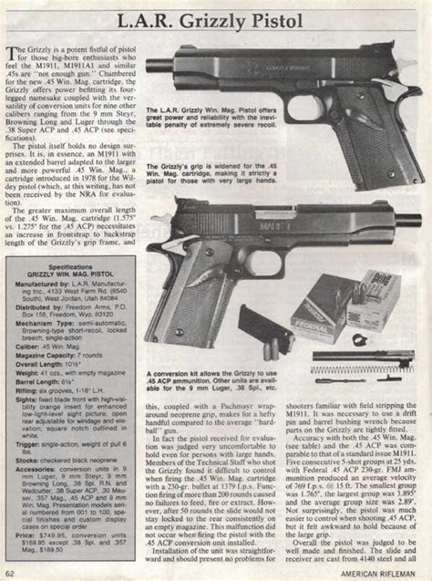 Pistol L by Grizzly S Home Page L A R Grizzly Pistol