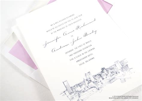 Wedding Invitations Tulsa by Tulsa Skyline Wedding Invitations