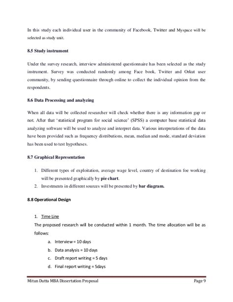 Mba Dissertation Template by Dissertation And Mba Mitun Dutta Mba