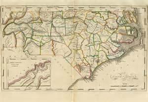 map of county carolina 1814 county map of carolina