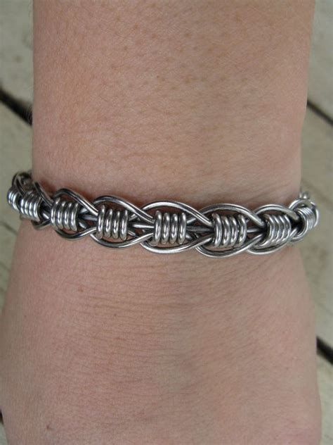 how to make wire weave jewelry s stainless steel bent wire woven bracelet