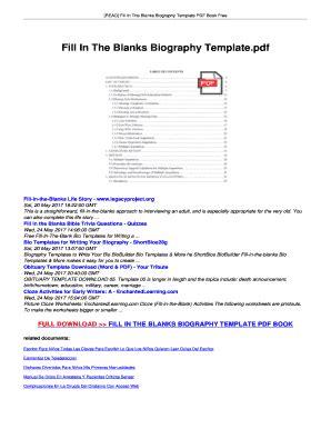 biography book pdf free download biography template pdf forms fillable printable