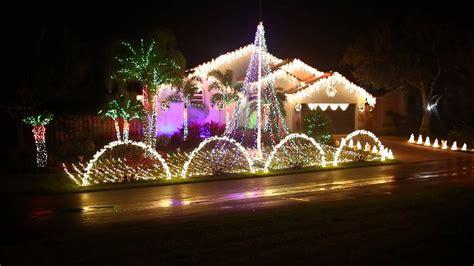 light  florida  animated christmas lights display p youtube