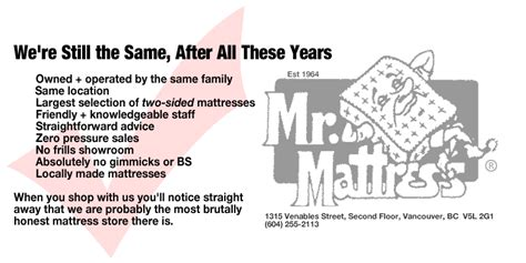 Mr Mattress Reviews by Mr Mattress About Us Locally Made Two Sided