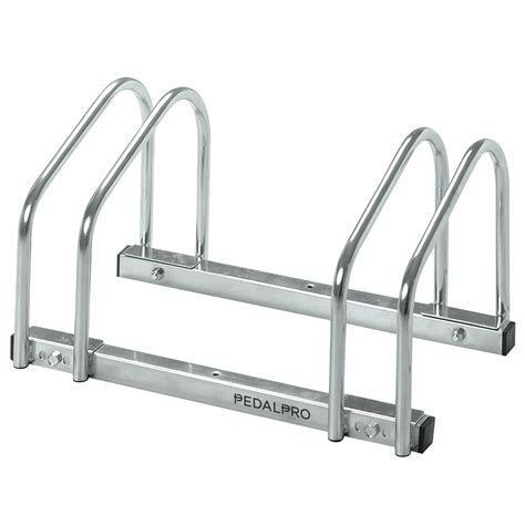 Locking Bike Rack For Garage by Pedalpro 2 Bicycle Floor Wall Mount Storage Rack Bike