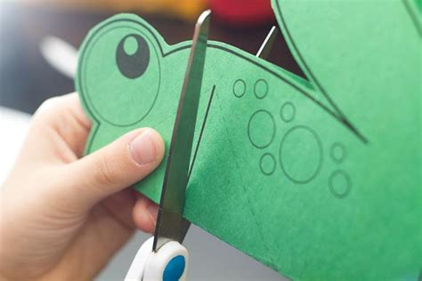 frog pop up card template easy pop up frog for hub