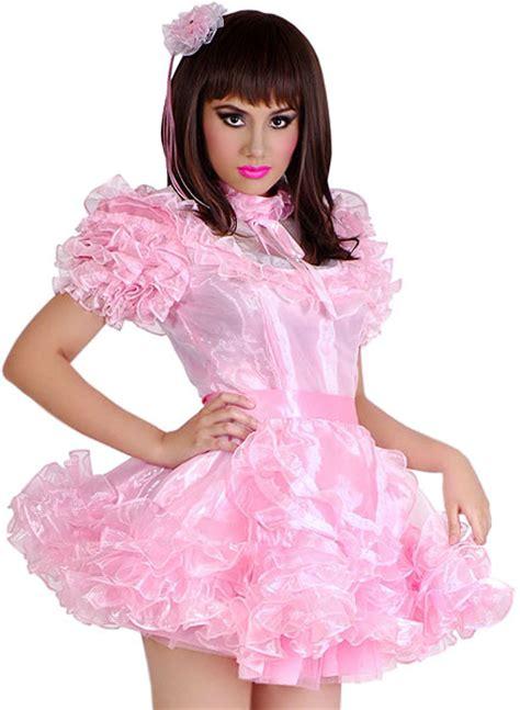 sissy dress swishy pink sissy dress