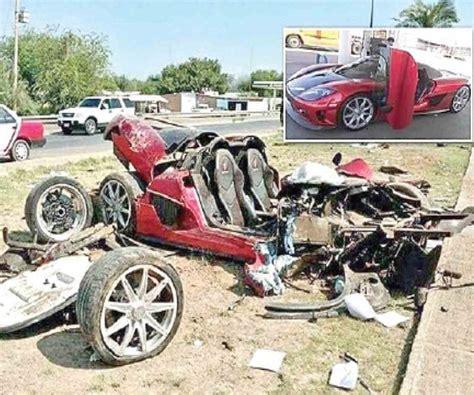 koenigsegg laredo destrozan auto deportivo de lujo al volcar 2 heridos la