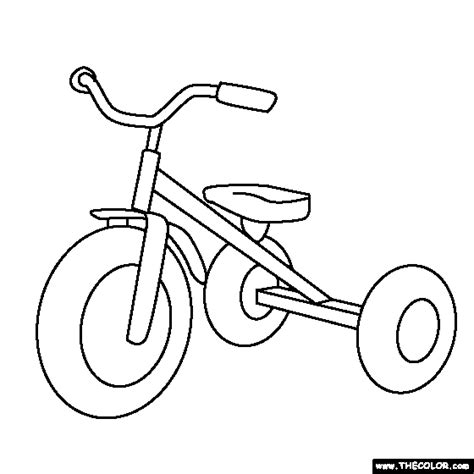 tricycle coloring pages preschool online coloring pages starting with the letter t page 10