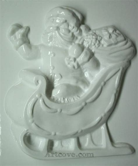 santa and sleigh vintage 40s plaster of paris 17 best images about plaster molds we carry on acrylics paint and branches